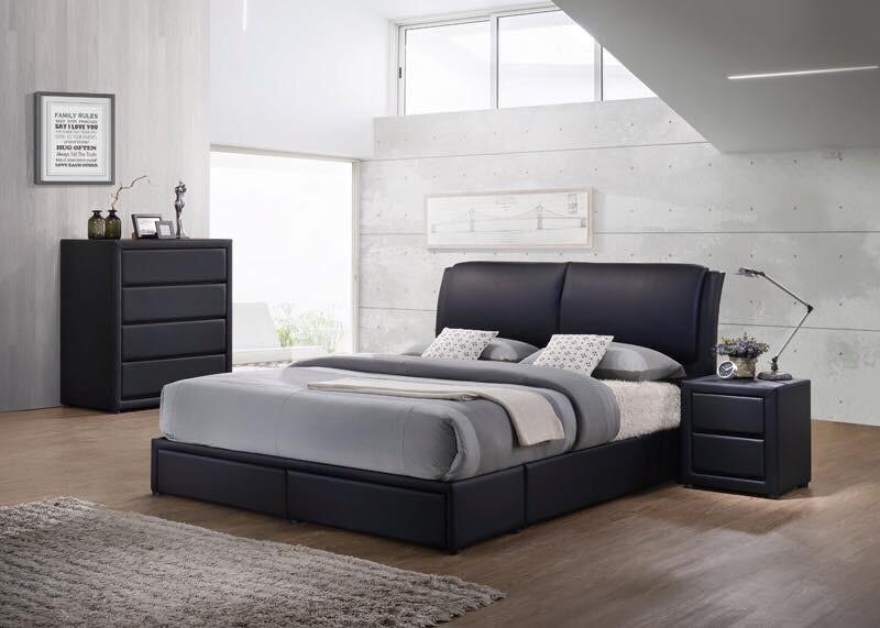 Rumour Bedroom With 2 Storage Draws Queen